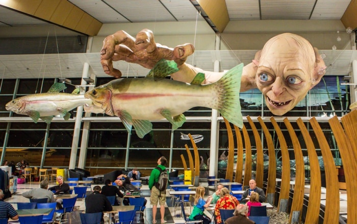 A giant sculpture of Gollum.