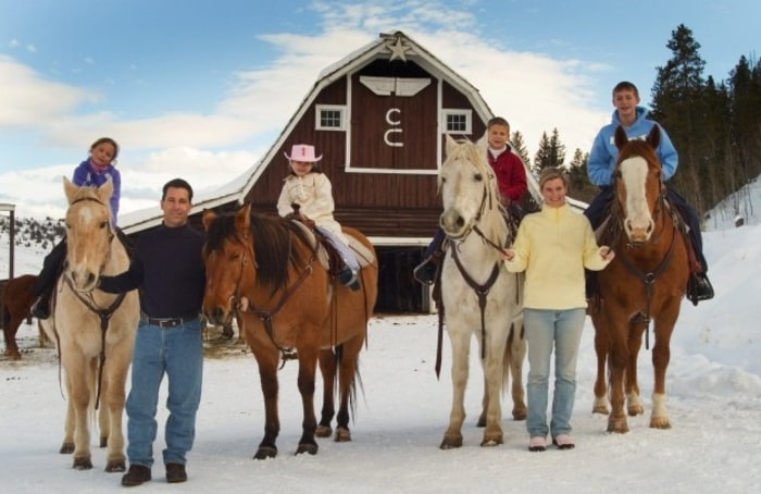 Work off all that turkey with a family trail ride at C Lazy U Ranch in Granby, Colo.