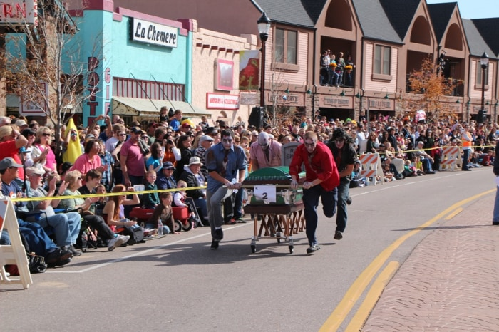 Image: Coffin race
