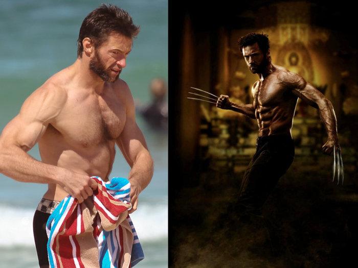 So vein check out shirtless hugh jackman - Wolverine cgi ...