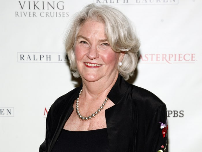 """This Dec. 12, 2012 file photo shows PBS Executive Producer Rebecca Eaton attending a """"Downton Abbey"""" photo call, at the Essex House in New York. Eaton..."""
