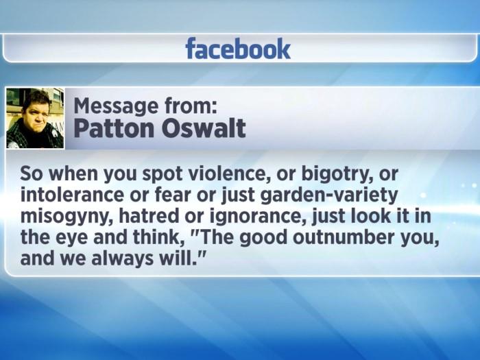 Patton Oswalt's Facebook response to the Boston Marathon tragedy.