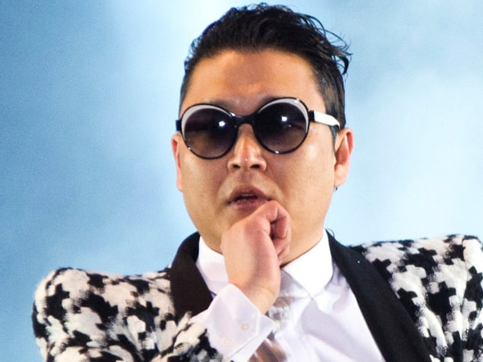 "South Korean rapper Psy performs ""Gentleman"" during his concert ""Happening"" in Seoul April 13, 2013. Psy performed his new song ""Gentleman"" in public ..."