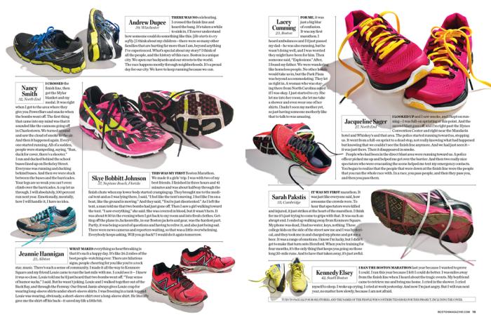 Image: Boston magazine feature about marathon tragedy