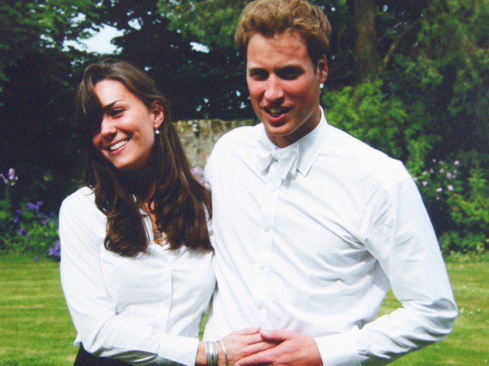 In this image made available by in London, Monday March 7, 2011 by The Middleton Family, Britain's Prince William and Kate Middleton pose together fol...
