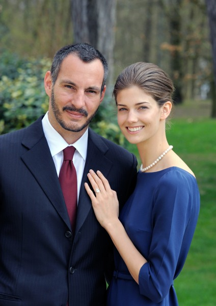 Model Kendra Spears and her fiance, Prince Rahim Aga Khan.