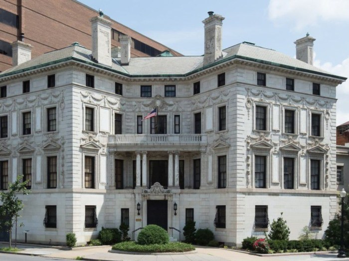 President Calvin Coolidge stayed at the Patterson Mansion in D.C.'s Dupont Circle for a summer because the White House roof was leaking.