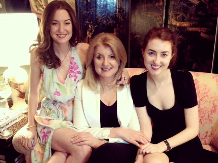 Christina Huffington with her mom and sister