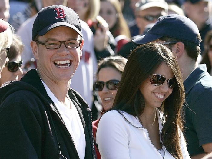 Image: Matt Damon and wife Luciana
