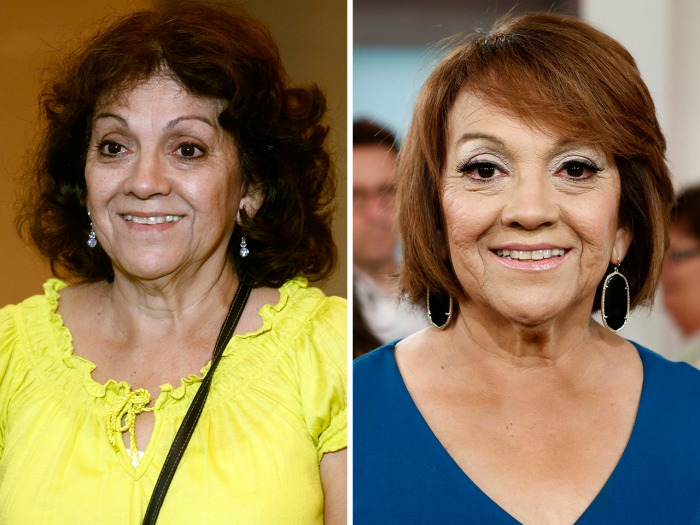 Esther Martinez, before and after her makeover.