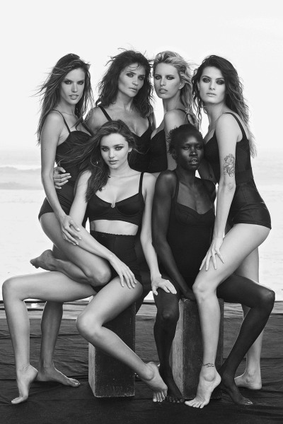 Pirelli celebrates the 50th Anniversary of the Pirelli Calendar, bringing together top models for a sexy, sophisticated shoot.