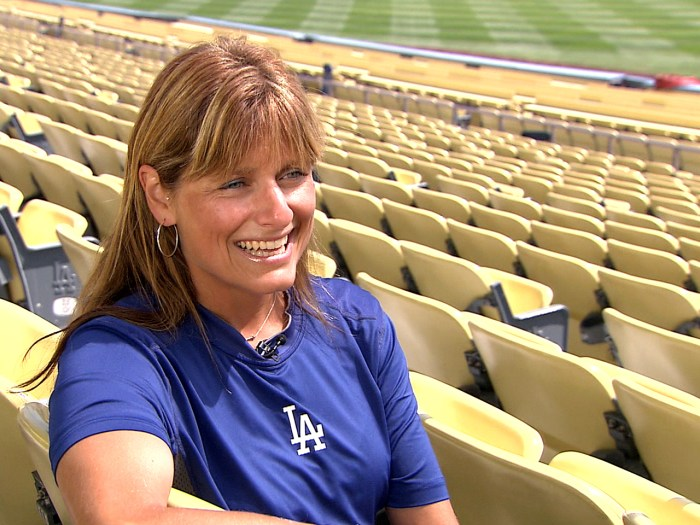 Now in her second year with the Los Angeles Dodgers, Sue Falsone has become a trailblazer as the first female head athletic trainer in major professional sports.