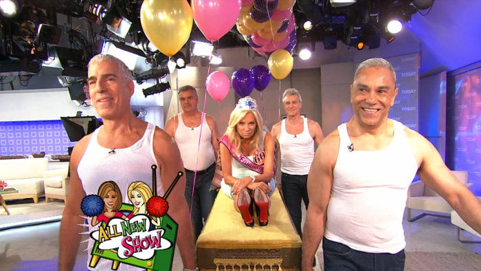 Kathie Lee celebrated her 50th birthday by making a grand entrance.