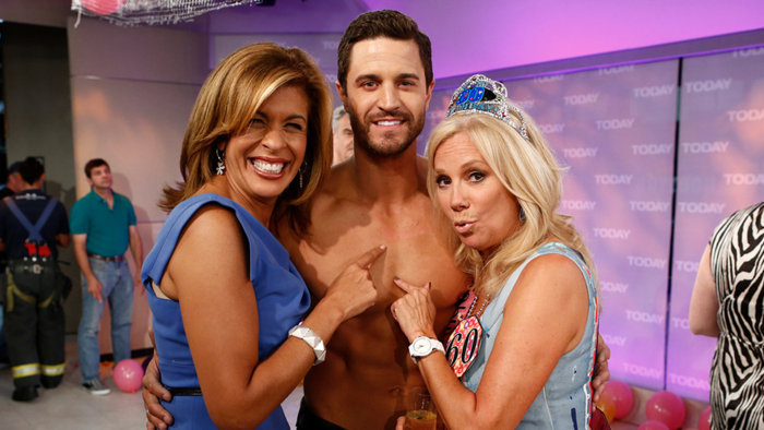 Kathie Lee and Hoda with 'Zesty Guy.'