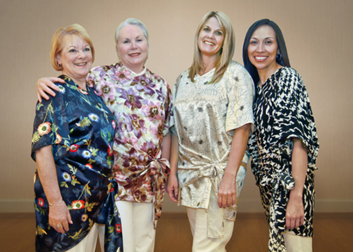 Radiant Wraps, an alternative designer gown made for women with breast cancer to wear during radiation treatments, was created by a breast cancer survivor.