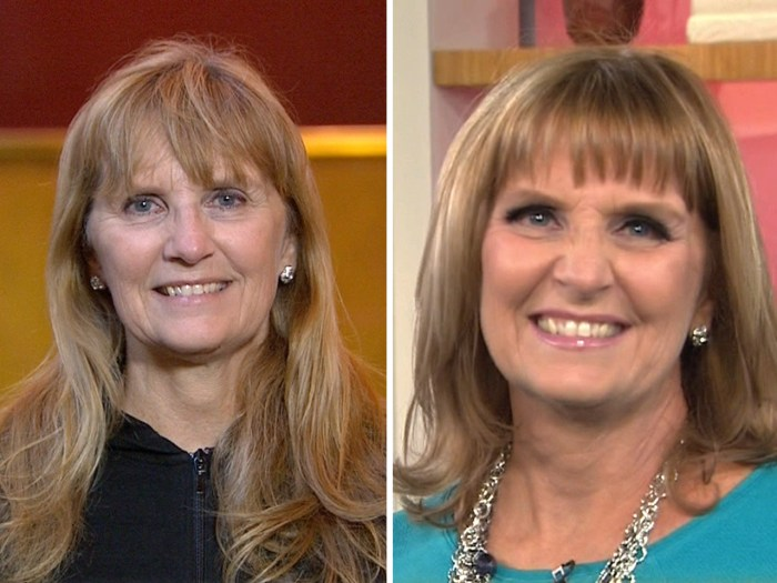 In honor of Kathie Lee's birthday, her good friend (and sister-in-law) Sandy Epstein got a makeover.