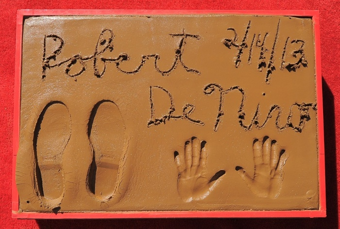 Image: Robert De Niro's hand and footprints outside TCL Chinese Theatre.