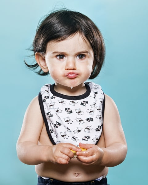 Pucker up! Kids react to tasting lemons for the first time.
