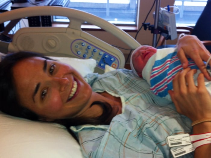 Liza Peay with baby Elizabeth Shaw Joseph