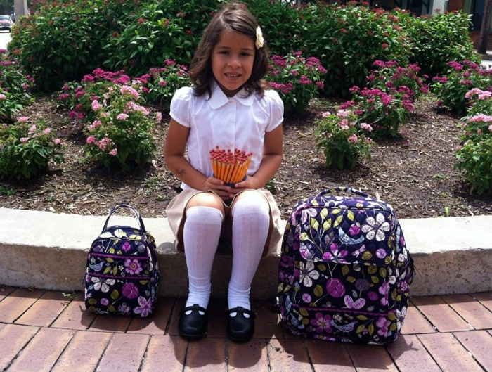 Makayla Isabel Alexander, ready for first grade.