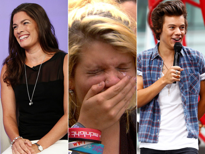 Kerrigan speaks out and One Direction makes girls weep on the plaza.