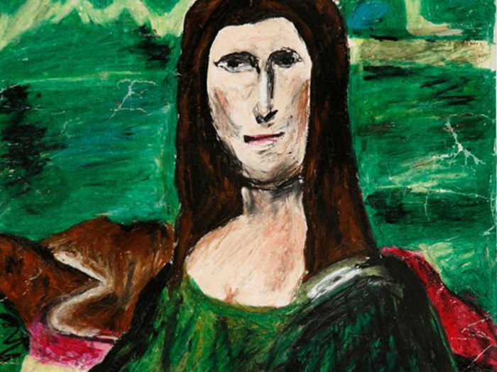 The 'Mana Lisa,' one of the works in the 'Museum of Bad Art.'