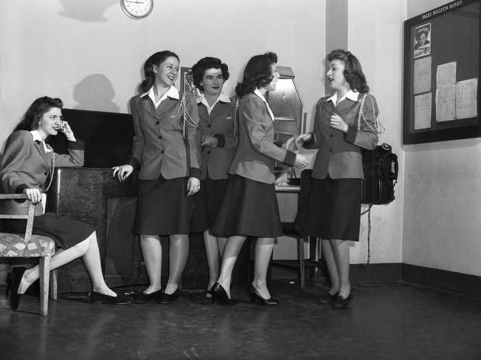 NBC PAGES & GUIDES -- 1946 -- Pictured: NBC pagettes in the Rec Room on April 1, 1946 -- Photo by: NBC/NBCU Photo Bank