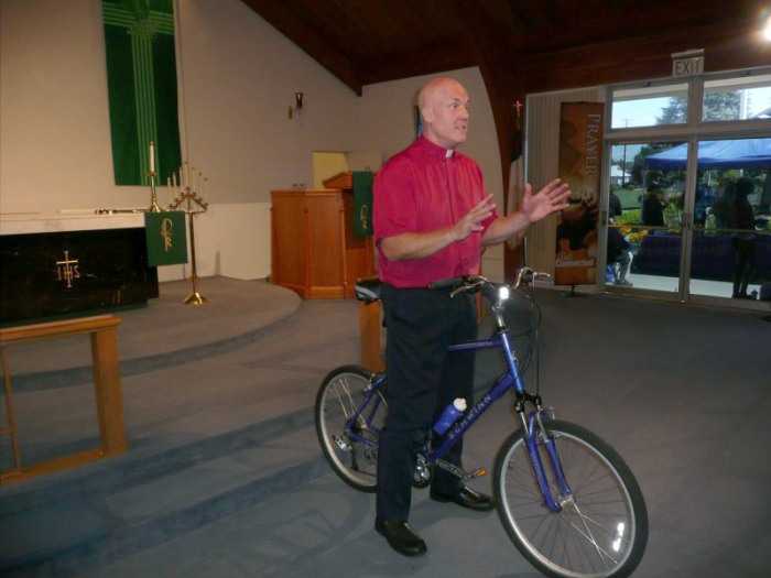 Pastor Chris Townshend has been on a mission to help his congregation get fit.