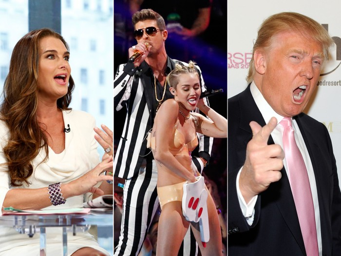 Brooke hosted, Miley twerked and Donald called in.