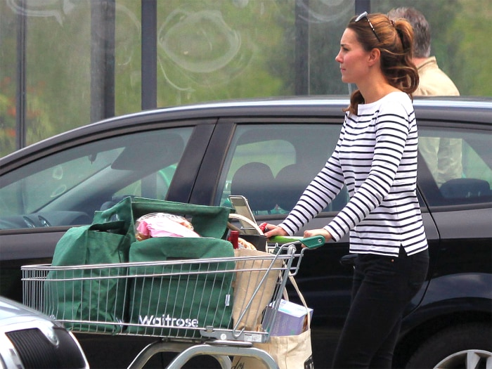 Catherine, Duchess of Cambridge goes shopping.
