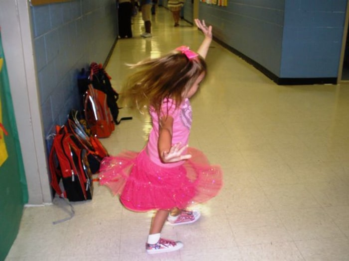 A tutu at school? Why not?