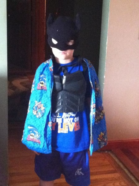 Heather Vale Warwick shares a picture of her 6-year-old son Dylan's outfit for dinner.