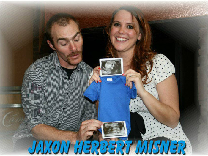 The couple had originally planned on naming their son Jaxon after learning they would be having a boy, but Amanda Misner decided to name the baby Sean Jaxon Herbert Misner after her late husband.