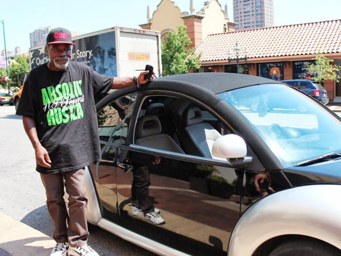 Billy Ray Harris with the car he was able to buy, thanks to donations from people who heard his story.