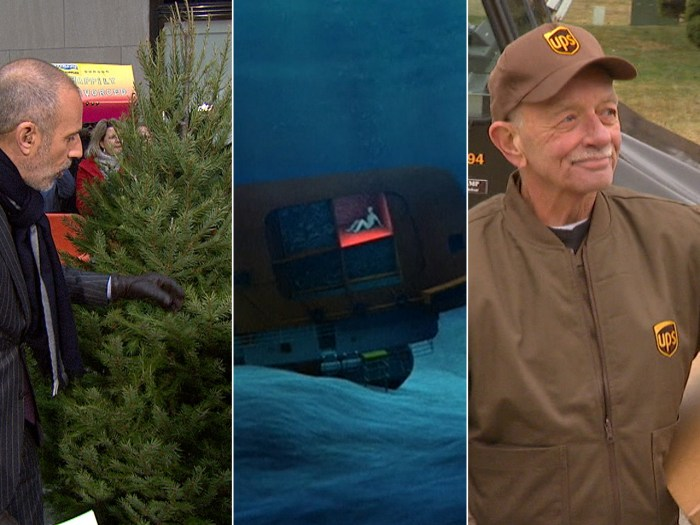 Matt learns about mold-free Christmas trees, Harrison Okene is rescued after days underwater and Tom Camp delivers 5 million packages.