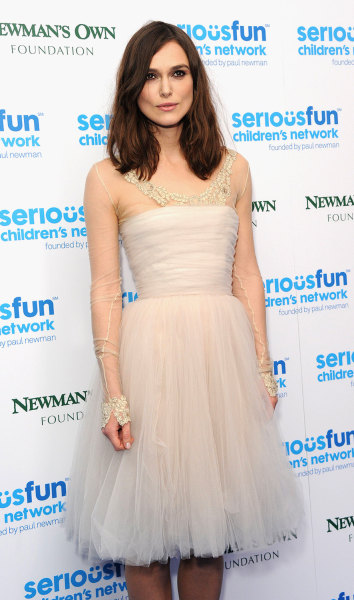 Keira Knightley attends the SeriousFun London Gala 2013 at The Roundhouse in London on Dec. 3..The Serious Fun Children's Network is a growing communi...
