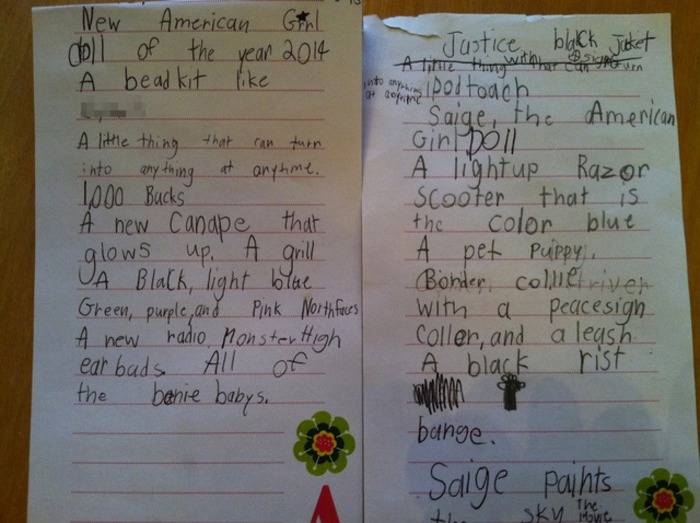 Dear Santa Kids Holiday Wish Lists Can Be Hilarious Or