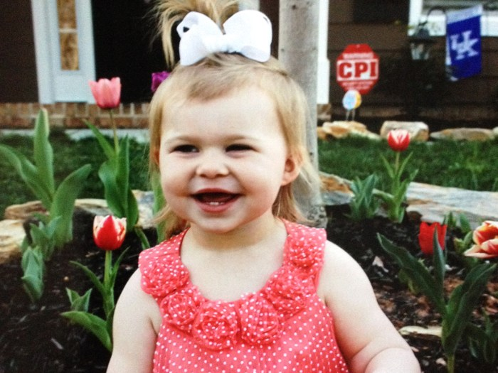Harper Waggoner, 3, sustained a head injury after falling from her booster seat last year.