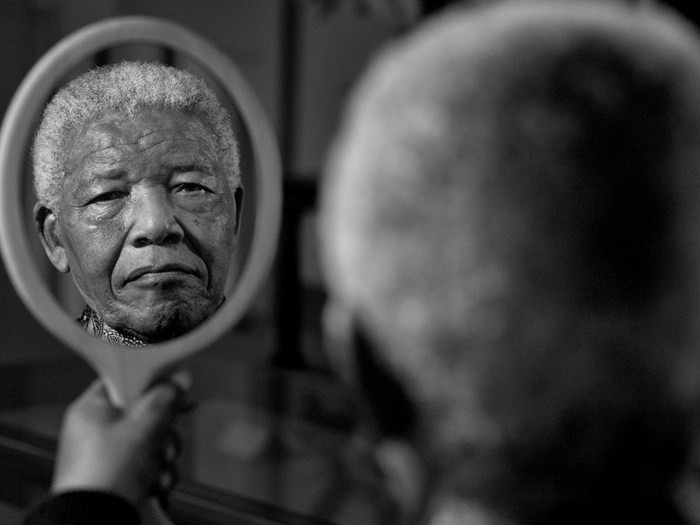 FILE- In a previously unreleased portrait, Nelson Mandela is pictured in September 2011 at his home in Qunu, Eastern Cape.