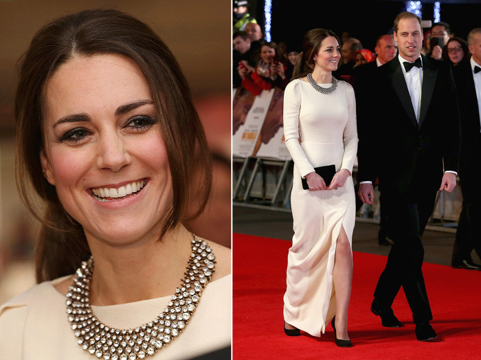LONDON, ENGLAND - DECEMBER 05:  Catherine, Duchess of Cambridge and Prince William, Duke of Cambridge attend the Royal film performance of 'Mandela: L...