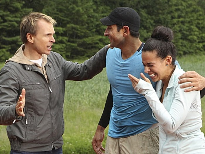 Image: Phil Keoghan, Jason Case and Amy Diaz