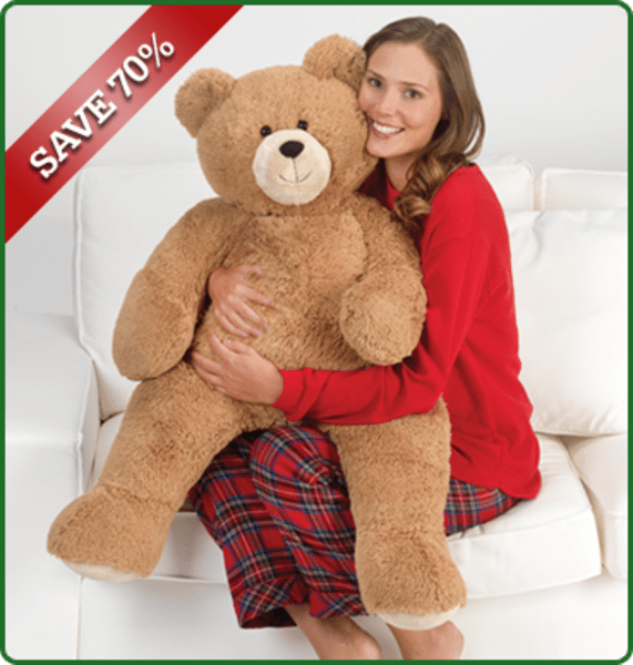 Grab this great deal and get a 3' Vermont Teddy Bear for 70% off