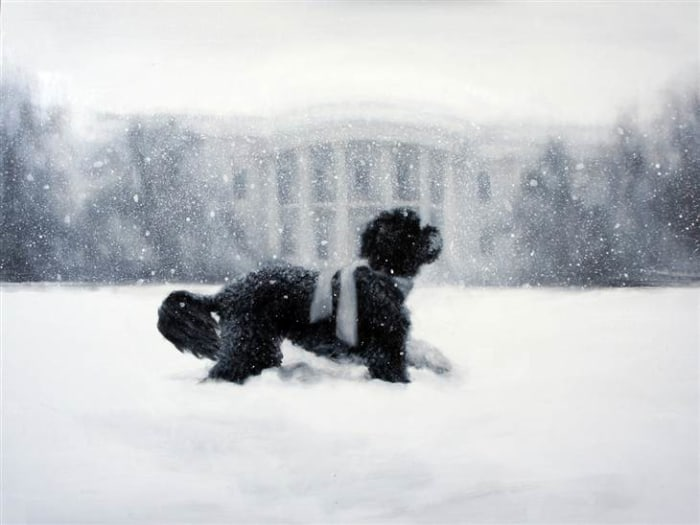 The White House Christmas card from 2012.