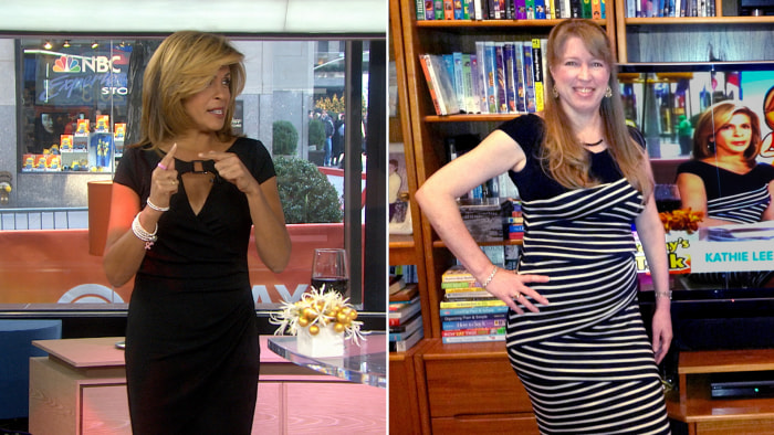 Hoda and a TODAY fan switched dresses.