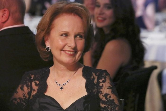 "Kate Burton as the VEEP on ""Scandal."""