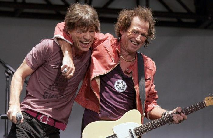 Image: Mick Jagger and Keith Richards