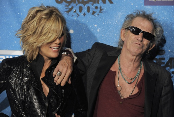 Image: Keith Richards and wife Patti Hansen