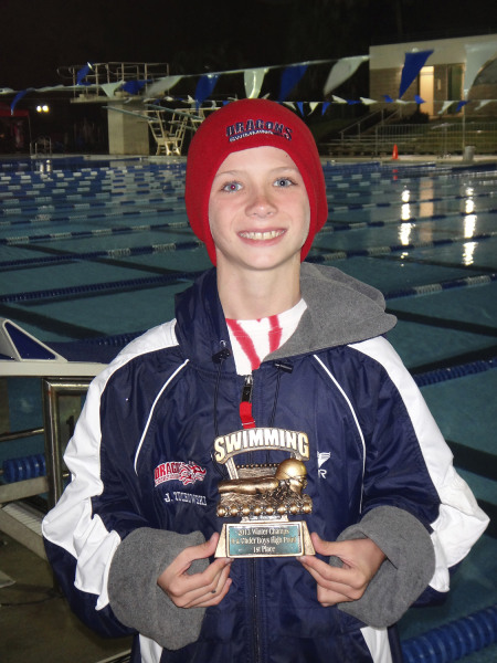 Before the swim meet began, Josh Zuhowski planned on winning five gold medals and the trophy as the top point-getter and giving them to friendly rival Reeze Branzell.