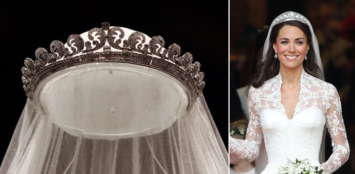The tiara worn by Duchess Kate on her wedding day