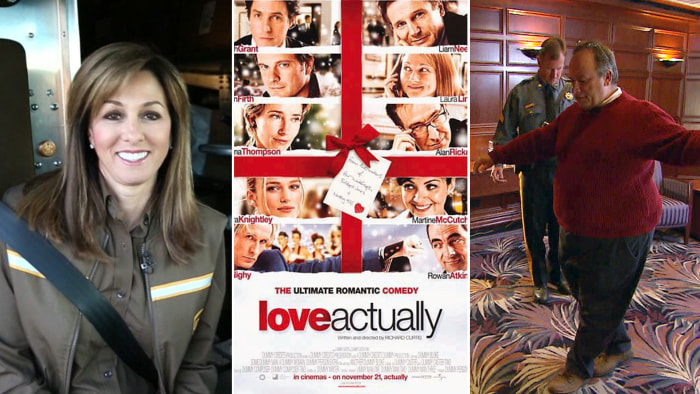 """Janet Shamlian takes a ride on the busiest delivery day of the year, """"Love Actually"""" struggles to stay in the TODAY Christmas Movie Bracket and one man tries to prove he's fit to drive."""